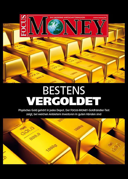 Auvesta Awarded as Top Gold Dealer - The Focus Money Gold Dealer - Test shows at which providers the buyer is in good hands